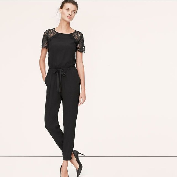 df3a8f8768b8 LOFT Pants - LOFT Black Lace Jumpsuit 00P